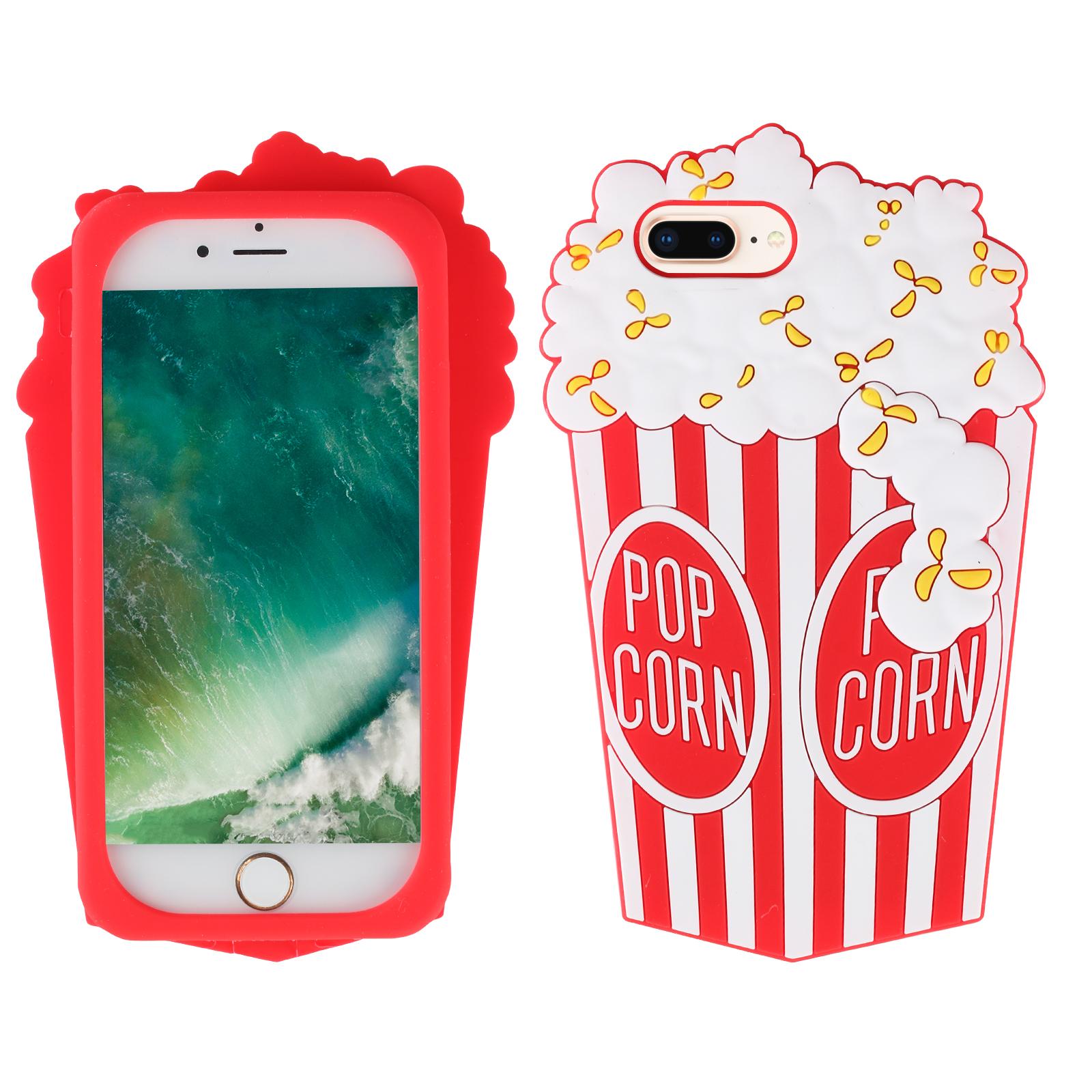 Coque de Protection Pop Corn en silicone, pour iPhone 7 /8